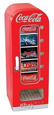Retro Coca Cola Cooler Vending Machine Vintage Mini Fridge Car Can Soda Bar Unit