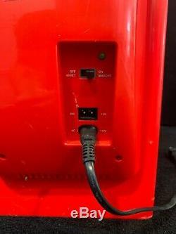 Retro Coca Cola Vending Fridge 10 Can Machine Mini Soda Refrigerator Coke Cooler