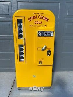 Royal Crown Cola RC VMC-81 Embossed Soda Machine Vendo Original Pepsi 7up Coke