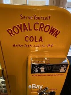 Royal Crown Cola RC VMC-81 Embossed Soda Machine Vendo Original Pepsi 7up Coke