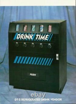 - SODA cold drink VENDING MACHINE-LIVE CAN DISPLAY -Dundas VM250