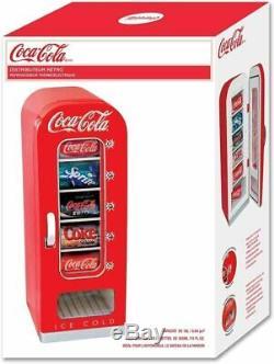 Soda Vending Machine Mini Fridge Retro Coca Cola Vintage Beverage Drink 10 Can