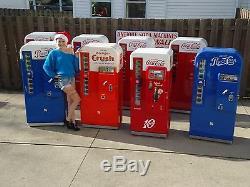 Two Professionally Restored VMC PEPSI 81 Coca Cola Coke Machine SIGN 44 39 56