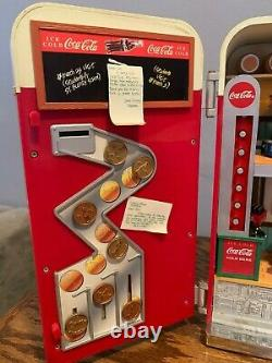 Updated Rare Working Coca Cola Vending Machine Enesco Music Teddy Bear workers