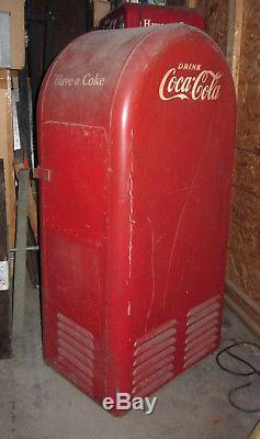 VINTAGE 1940's 50's orig. F. L Jacobs Coca Cola Machine Cools
