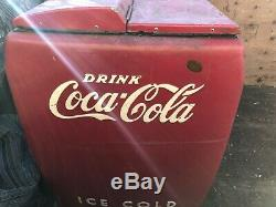 VINTAGE, COCA COLA MACHINE, Cooler, Coca Chest, Antique, Vending, Slider, Vendo