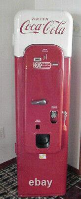 Vendo 1955 Original Paint Coke Vending Machine With Wheels Vmc-44 Pick Up Only