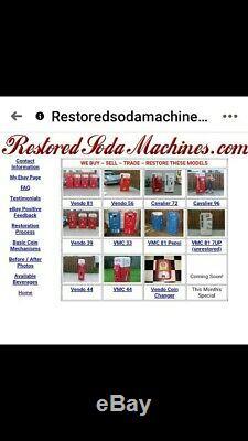 Vendo 39 Coca-Cola Coke Machine Pro Restoration Vendo 81 44 56 Cavalier 72