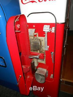 Vendo 44 Coca Cola Soda Coke Machine Older Restoration Works Great