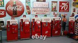 Vendo 81 B 1956 Coca Cola Coke Machine Restored BEST IN THE USA Red Face Stack