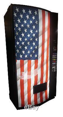 Vendo Univendor 2 Multi Price Soda Vending Machine Bottles&Cans USA Flag Graphic