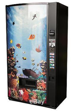 Vendo v480 8 Selection Can Soda Vending Machine with Aquarium Graphic