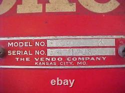 Vintage 1940's 1950's Vendo Coke Coca Cola Floor Model Vending Machine Works