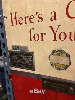 Vintage 1950s Double Chute Coca-Cola Machine WORKS