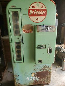 Vintage 1950s Org Dr Pepper Vendo Coke Coca Cola Soda Vending Machine Model 81