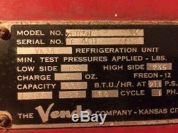 Vintage 1950s Vendo Coke Machine, Model F83N, 15 Cents