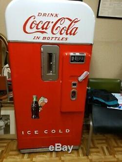 Vintage Antique Coca Cola Coke Machine Vendo 39 10 cent PROFESSIONALLY RESTORED