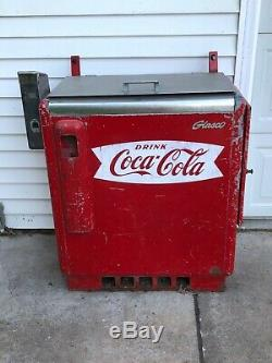 Vintage COCA COLA Pop Machine Glasco GBV-50 Coke Collectible Old Collect 10 CENT