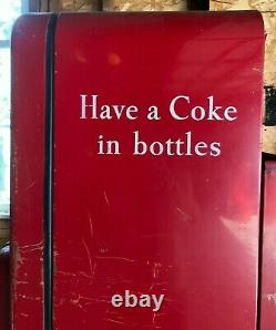 Vintage Cavalier Coke Coca-Cola Bottle Vending Machine 64 inches Tall with Key
