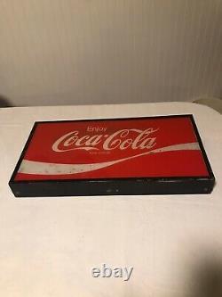 Vintage Coca Cola Coke Soda Machine Topper 1960s Sign Panel