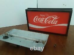 Vintage Coca Cola Coke Soda Machine Topper 1960s Sign Panel Light