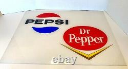 Vintage Pepsi Cola Vending Machine Plastic Insert Pepsi & Dr. Pepper Graphic