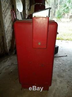 Vintage Pepsi Slide Cooler Coin Operated Parts Or Restoration Op Vending Machine