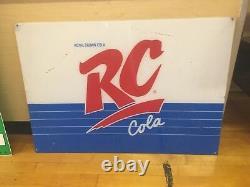 Vintage Royal Crown Cola Rc Vending Machine Sign Plexiglass 32 X 22 L1