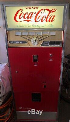 Vintage Westinghouse Coca-Cola / Coke Vending Machine Circa 1950s 1960s