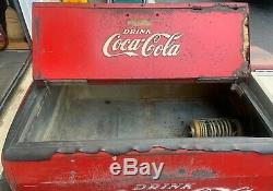 Vintage Westinghouse Coca Cola Machine/Cooler with Embossed Coca Cola on all sides