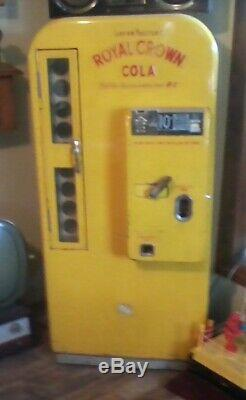 Vintage Yellow-red Rc Vending Machine Royal Crown/rc Cola
