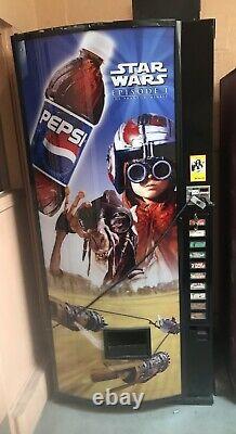 Vtg 1990s Star Wars Episode 1 Pepsi Vending Soda Machine 10 choice Works Great