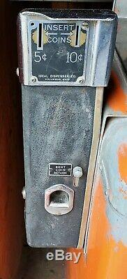 Vtg Original Nesbitts Orange Soda Cooler Vending Machine Working Original Paint