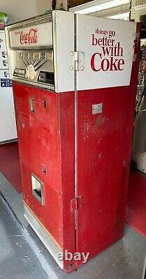 Westinghouse Vintage 1960s Coke Vending Machine Coca-Cola Soda Advertising